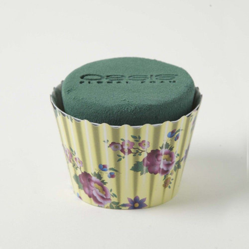 Oasis® Cupcakes small x 6 Cream Floral