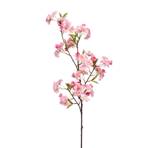 Faux Silk Apple Blossom Stem Pink