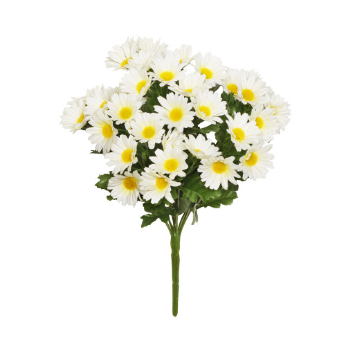 Faux Silk Daisy Bush White