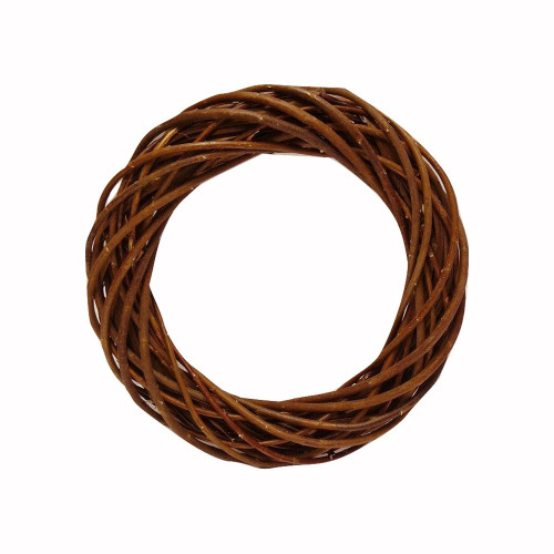 Wreath Base Woven Natural Dark Willow 40cm