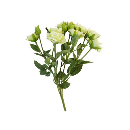 Mini Rosebud Artificial Flower Bunch Cream