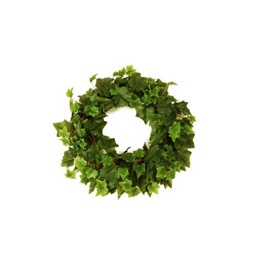 Faux Silk Green Ivy Wreath 35cm/14 Inches Diameter