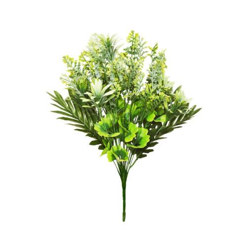 Mixed Artificial Green Foliage Bush