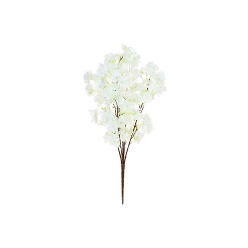 Faux Silk Blossom Branch 71cm/28 Inches Long White