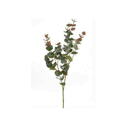 Faux Silk Artificial Eucalyptus Spray Red Green