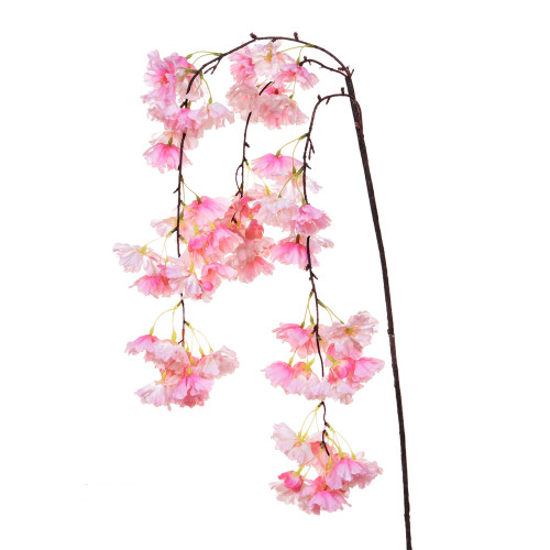 Weeping Faux Silk Cherry Blossom Branch