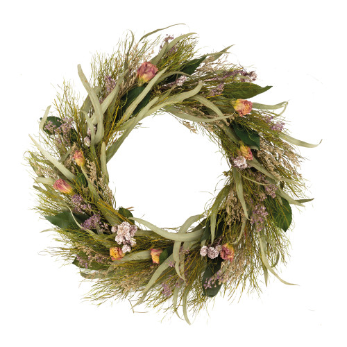 Summer Wreath Natural Dried Flowers and Leaves 43cm/17 Inches