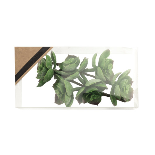 Artificial Succulent Pick Green 12cm/4.75 Inches Box of 2