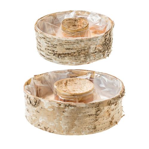 Set of 2 Birch Bark Planting Rings