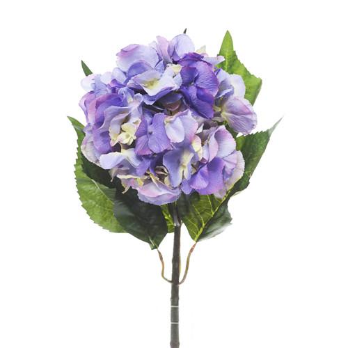Giant Artificial Hydrangea Stem Lavender Blue
