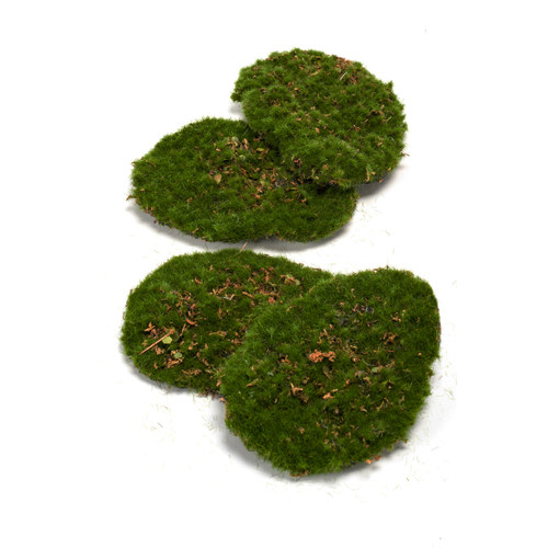 Bag of 4 Artificial Green Moss Mats