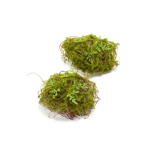 Bag of 2 Artificial Green Moss Balls