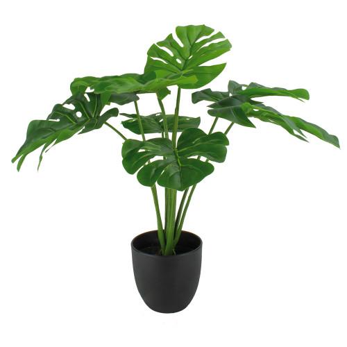 Artificial Green Monstera Plant