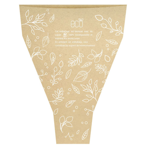 Eco Kraft Flower Sleeves Natural with White Floral Motifs