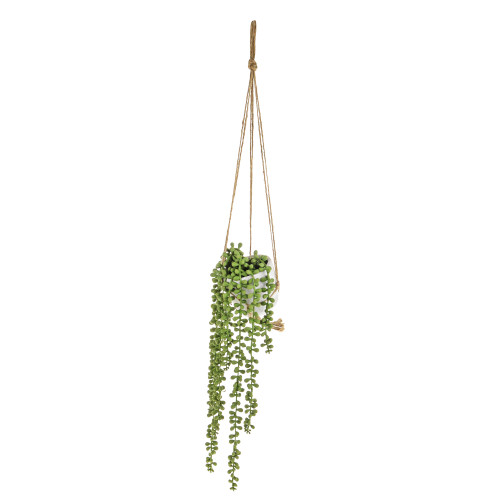 Hanging String Of Pearl or Senecio Artificial Houseplant