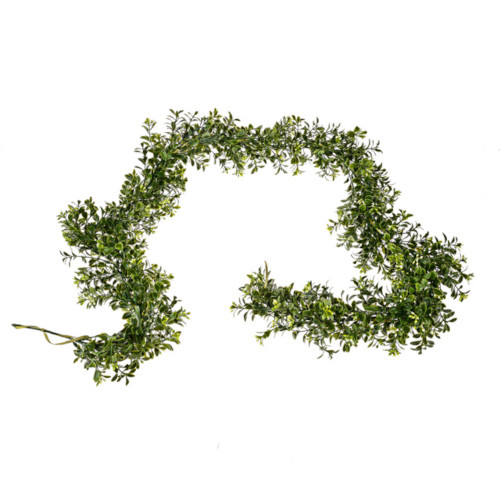 Green Artificial Foliage and Flower Garland