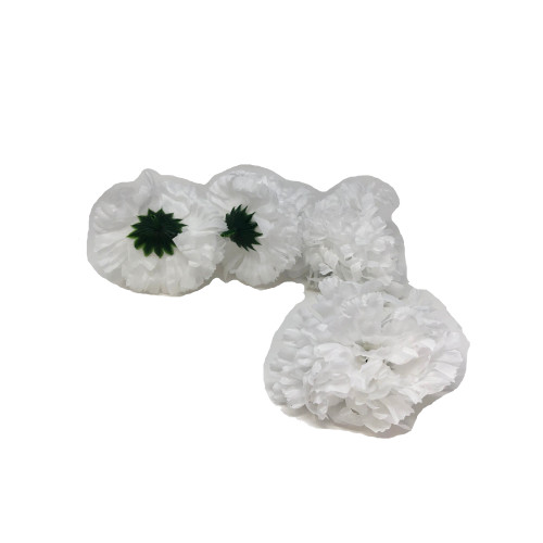 Artificial Carnation Heads box of 288 White