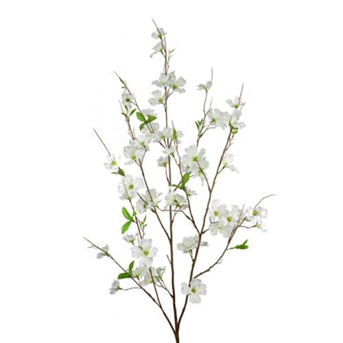 Faux Silk Cream Dogwood Blossom Branch