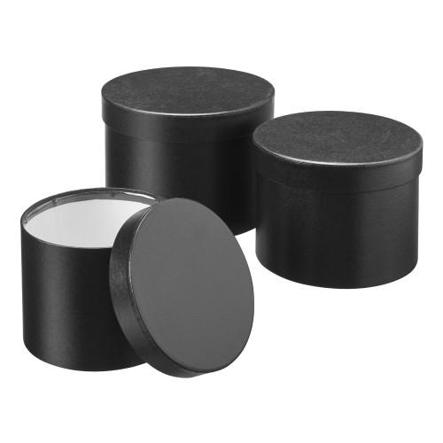 Set of 3 Symphony Hatboxes 20 x 14cm Black