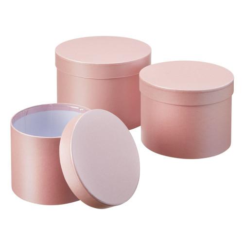 Set of 3 Symphony Hatboxes 20 x 14cm Pale Pink