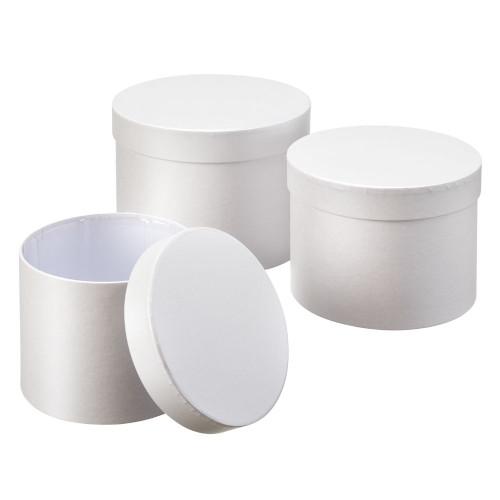 Set of 3 Symphony Hatboxes 20 x 14cm White