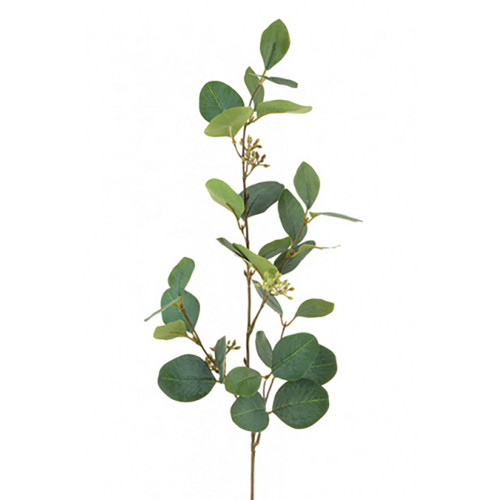 Faux Silk Eucalyptus Spray With Berries