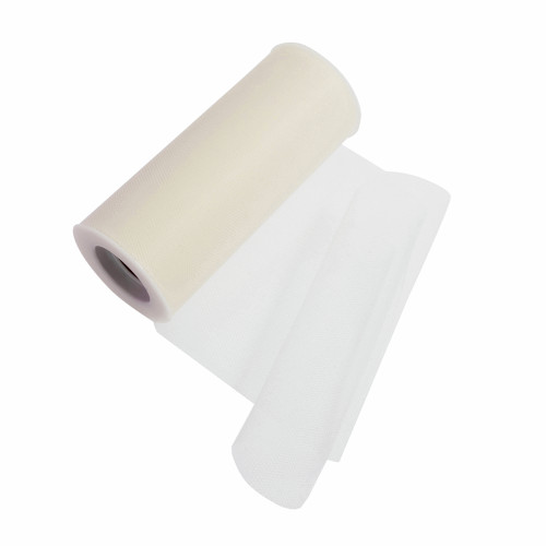 Tulle Polyester Ribbon Cream