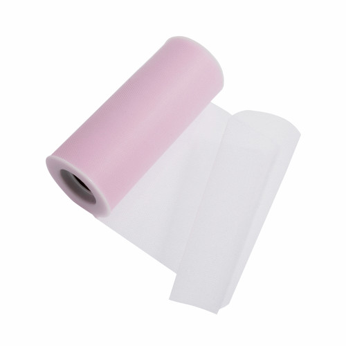 Tulle Polyester Ribbon Pale Pink