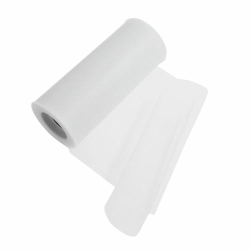 Tulle Polyester Ribbon White
