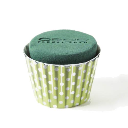Oasis® Cupcakes Small x 6 Polka Dot Green