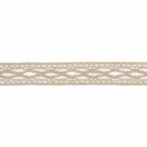 Cotton Lace Ribbon Brown