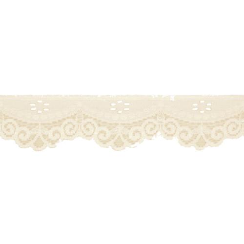 Stretch Lace Trim Ivory