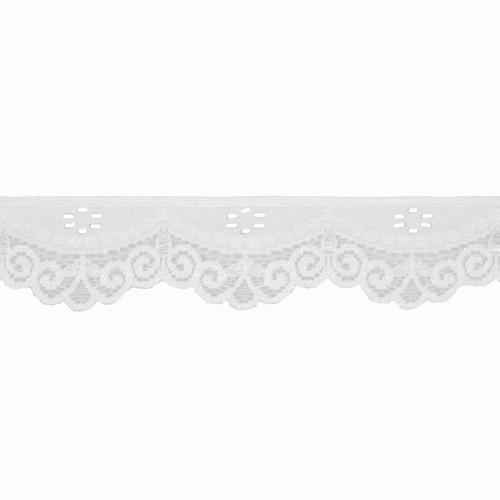 Stretch Lace Trim White