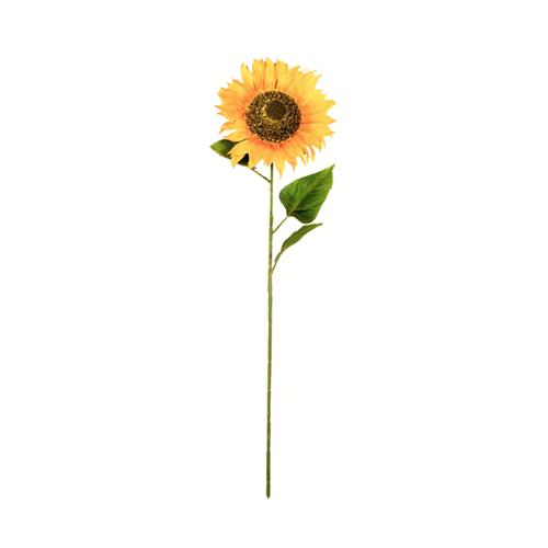 Single Faux Silk Sunflower Stem