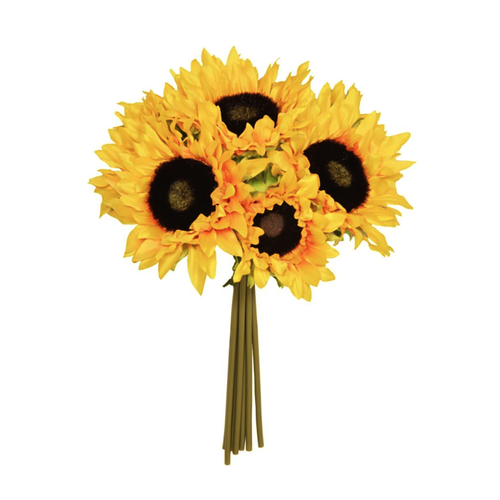 7 Stem Faux Silk Yellow Sunflower Posy