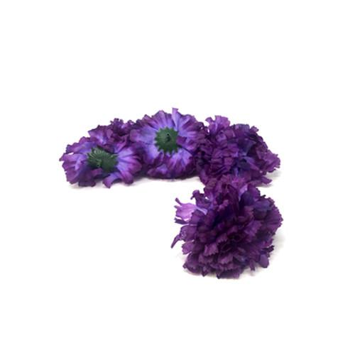 Artificial Carnation Heads box of 288 Purple
