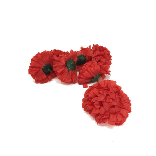 Artificial Carnation Heads box of 288 Red