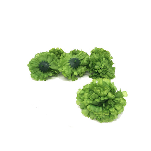 Artificial Carnation Heads box of 288 Green