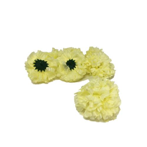 Artificial Carnation Heads box of 288 Lemon