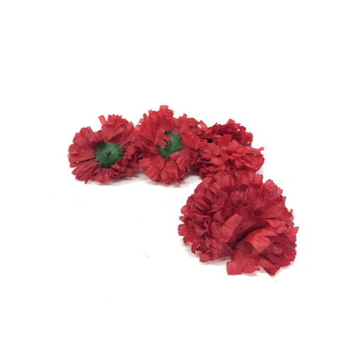 Artificial Carnation Heads box of 288 Wine Red