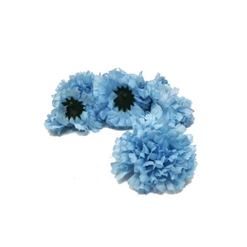 Artificial Carnation Heads box of 288 Blue