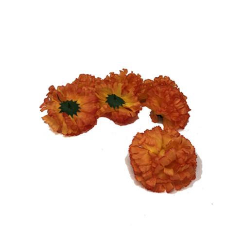 Artificial Carnation Heads box of 288 Tea Peach