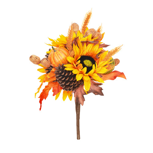 Mixed Hand Wrapped Autumn Artificial Bouquet 40cm/15.75 Inches