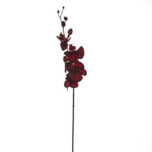 Deep Red Artificial Silk Orchid
