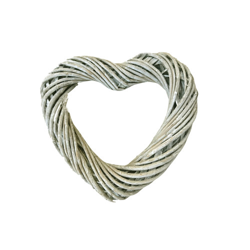 Heart Wreath Base Grey Willow