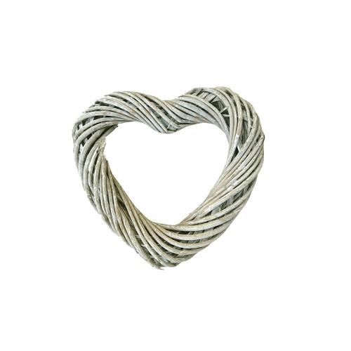 Heart Wreath Base Grey Willow 30cm