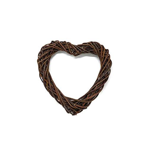 Heart Wreath Base Dark Brown Willow 30cm