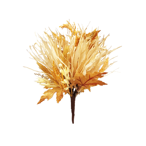 Dried Grass and Artificial Foliage and Berry Autumn Bouquet
