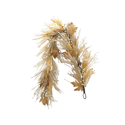 Luxury Autumn Grass Garland With Berries And Foliage