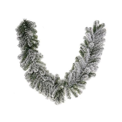 Snowy Artificial Pine Winter Garland